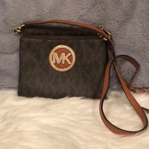 Brown Michael Kors crossbody
